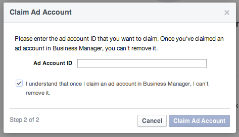 Facebook Business Manager - Enter Ad Account ID