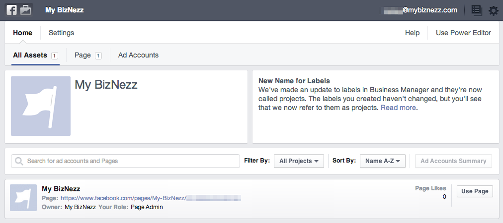 Facebook Business Manager - Example