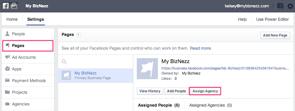 Facebook Business Manager - Add Agency Access to Pages