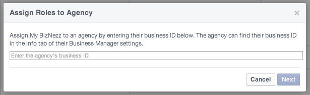 Facebook Business Manager - Add Agency