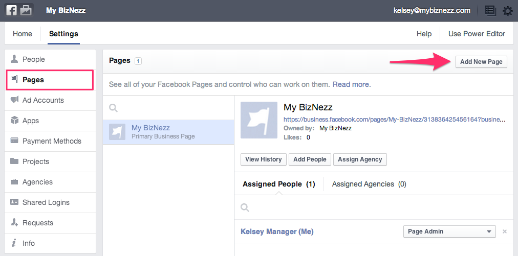 Facebook Business Manager - Add Pages