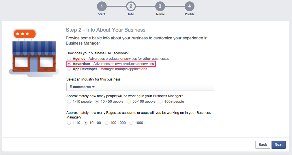 Facebook Business Manager - Info About Your Business